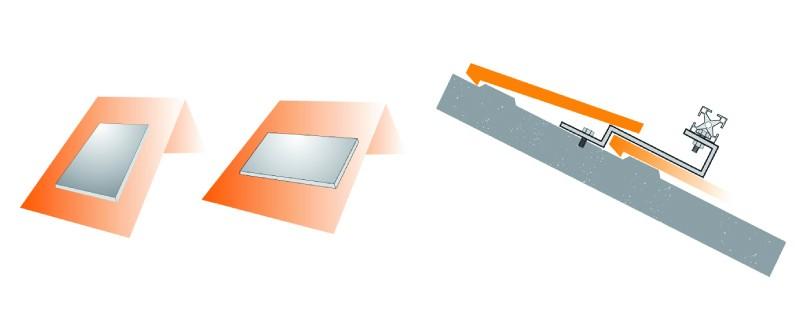 Fixação Universal Fixação Telhado/Placa Vertical - Tipo F