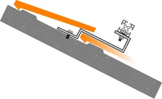 Fixação Universal FixaçãoTelhado/Placa Horizontal - Tipo F